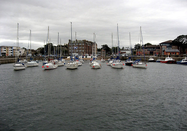 Man rushed to hospital after falling into Musselburgh Harbour