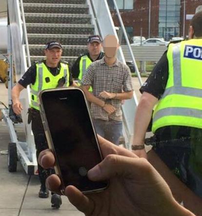 Man arrested for urinating on passengers on Edinburgh flight