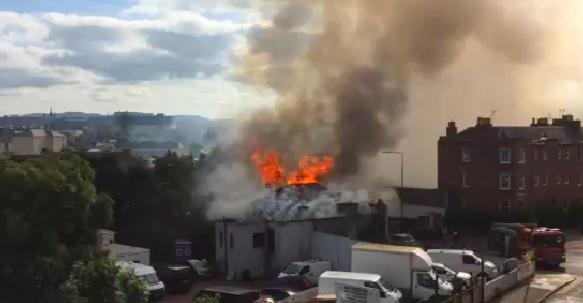 VIDEO: Fire rips through Old Bonnington Bar