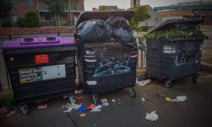 Sensor technology installed in litter bins