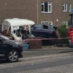 BREAKING: Car smashes through garden in Drylaw incident