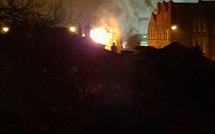 Road closures in Stockbridge following building fire