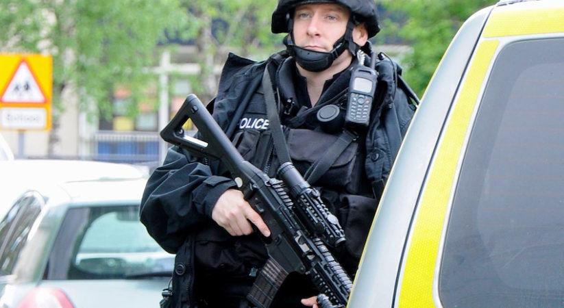 Armed police officers deployed across Edinburgh