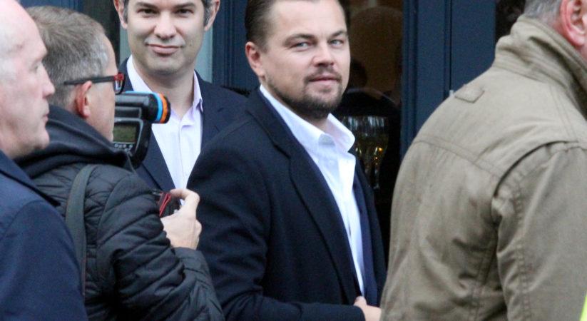 Leonardo DiCaprio arrives in Edinburgh for Scottish Business Awards