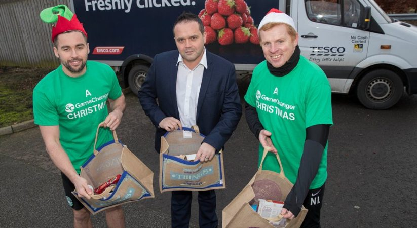 Tesco and Hibs cook up Christmas lunch to those in need on Sunday
