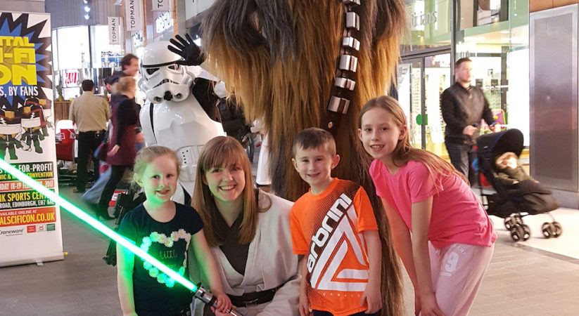 Star Wars crew raise £4,000 for CHAS at The Centre in Livingston