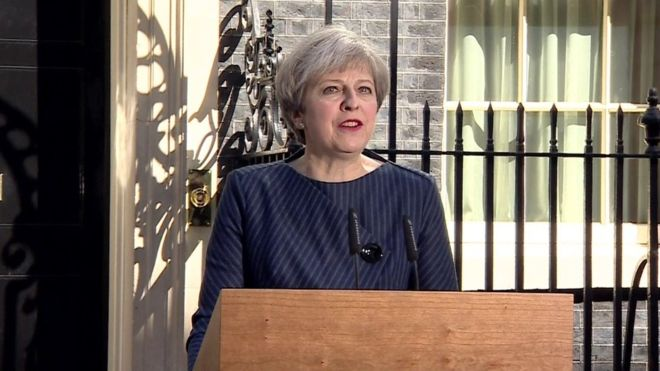 Breaking News – UK Prime Minister Theresa May has announced plans to call snap general election on 8 June.