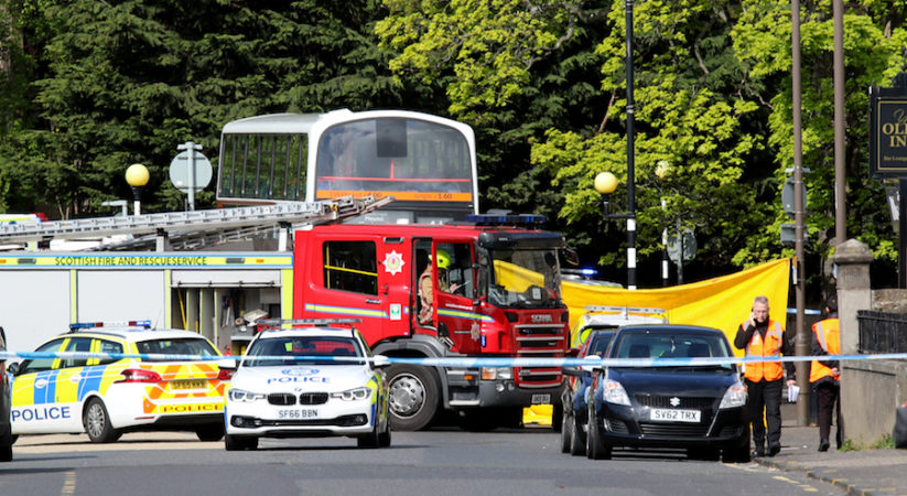 BREAKING: Emergency services dealing with traffic incident in Davidson's Mains involving a bus