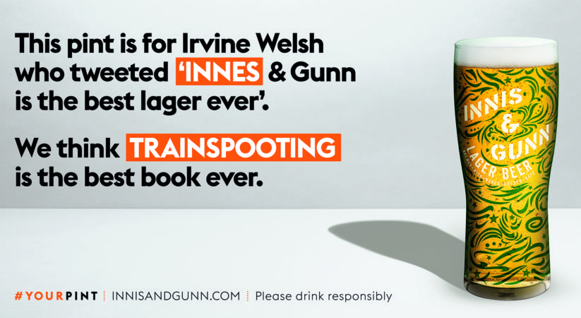 Innis and Gunn lager fans put in the spotlight