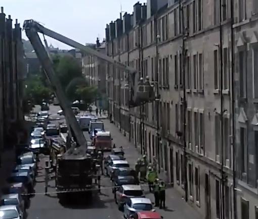 Fire crews tackle Buchanan Street stair fire