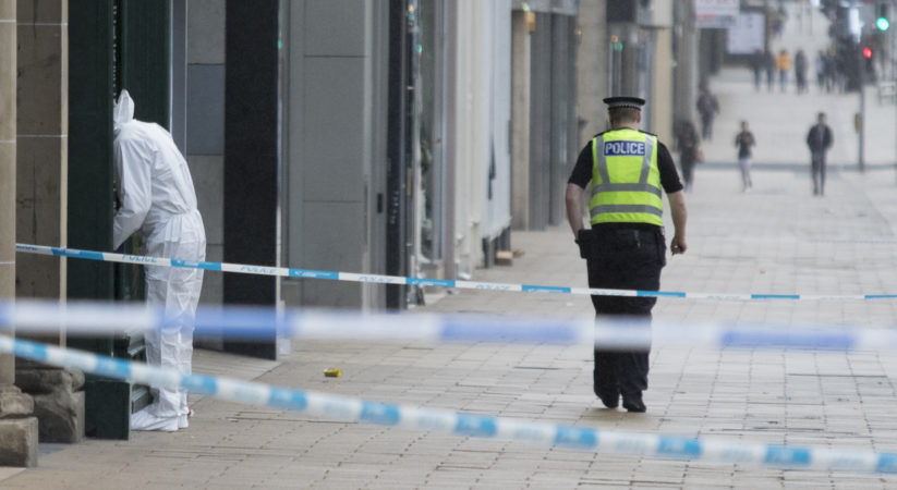 Princes Street closed following early morning assault