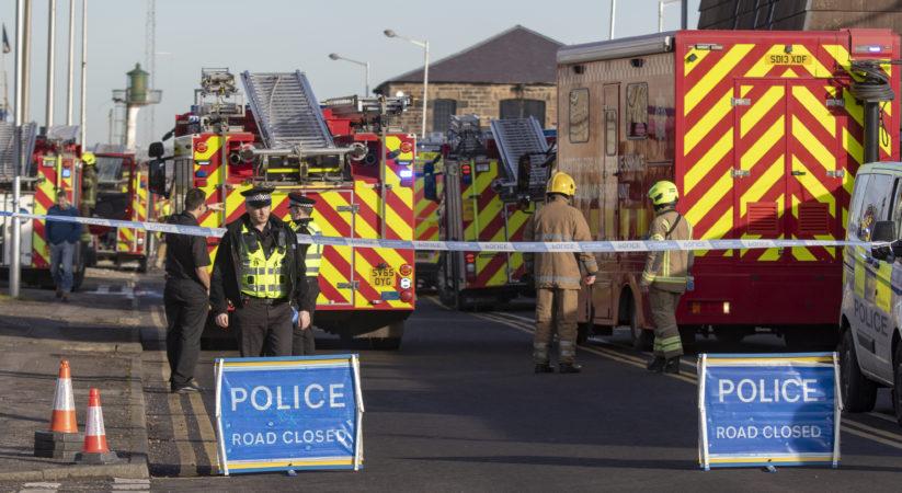 Fire rips through flats at Granton