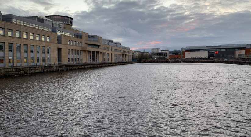 Man rescued after falling in water at Leith Docks