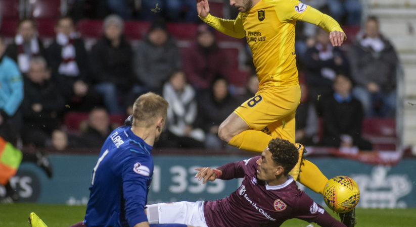 Hearts late goal secures a point at Tynecastle