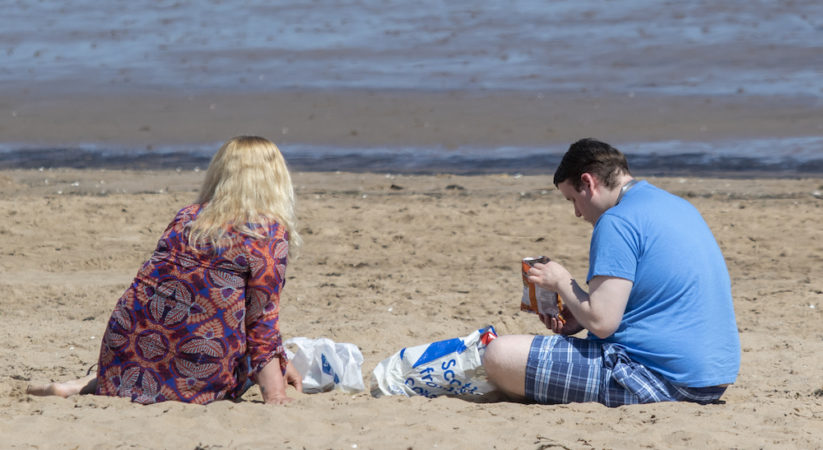 In Pictures: Portobello beach on day one of easing lockdown