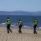 In Pictures: Police enforce lockdown at Portobello beach