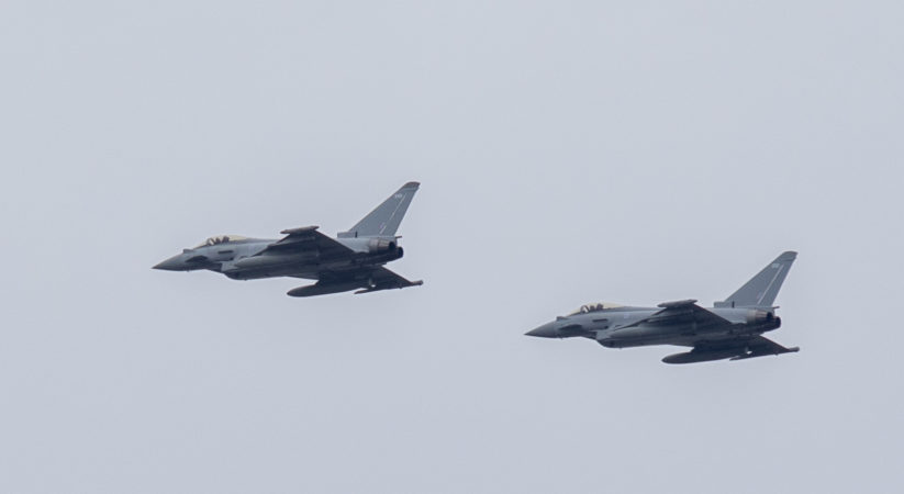 In Pictures: Typhoon flypast to mark VE Day