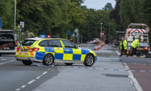 Man arrested following city centre smash