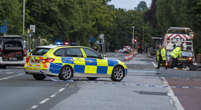 Man arrested following city centre smash