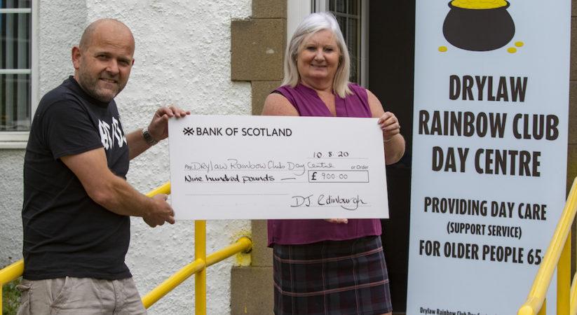 Edinburgh DJ hands over £900 donation to food bank