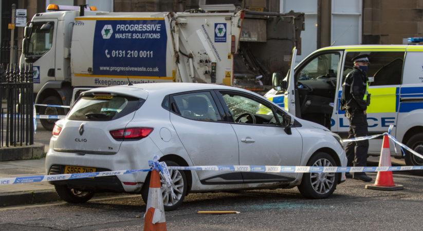 Man taken to hospital following Palmerston Place disturbance
