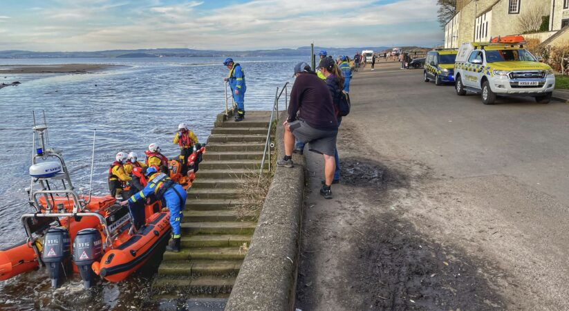 RNLI appeal for walkers to check the safe crossing times for Cramond Island